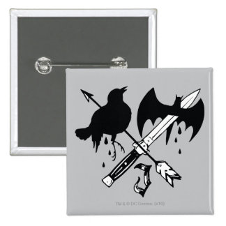 Suicide Squad   Joker Symbol 15 Cm Square Badge