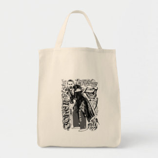 Suicide Squad | Joker Typography Photo Grocery Tote Bag