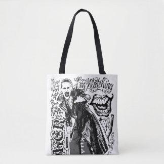 Suicide Squad   Joker Typography Photo Tote Bag