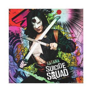 Suicide Squad | Katana Character Graffiti Canvas Print