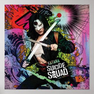 Suicide Squad | Katana Character Graffiti Poster