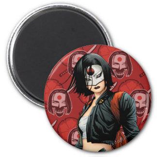 Suicide Squad   Katana Comic Book Art 6 Cm Round Magnet