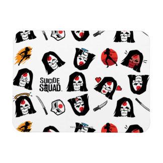 Suicide Squad   Katana Emoji Pattern Rectangular Photo Magnet