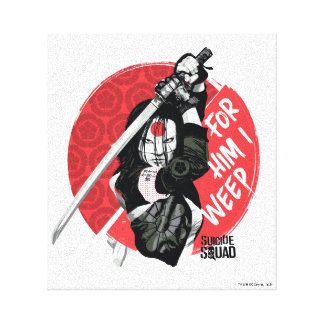 "Suicide Squad | Katana ""For Him I Weep"" Canvas Print"