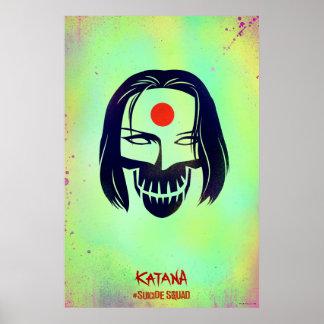 Suicide Squad | Katana Head Icon Poster