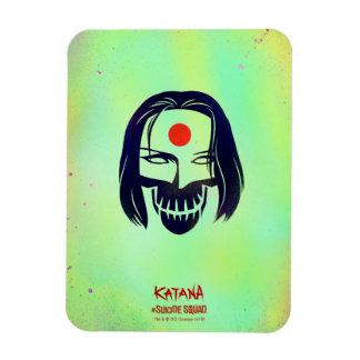 Suicide Squad | Katana Head Icon Rectangular Photo Magnet