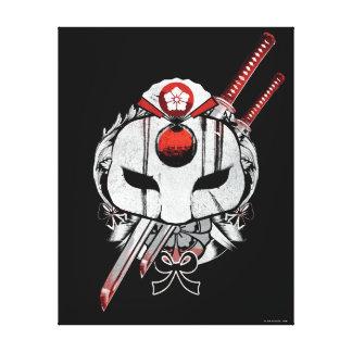 Suicide Squad | Katana Mask & Swords Tattoo Art Canvas Print