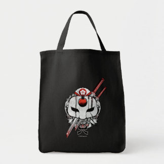 Suicide Squad | Katana Mask & Swords Tattoo Art Grocery Tote Bag