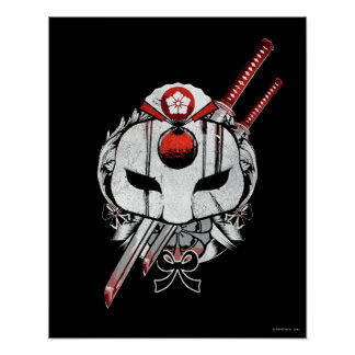 Suicide Squad | Katana Mask & Swords Tattoo Art Poster