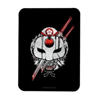 Suicide Squad   Katana Mask & Swords Tattoo Art Rectangular Photo Magnet