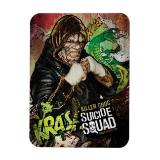 Suicide Squad | Killer Croc Character Graffiti Rectangular Photo Magnet
