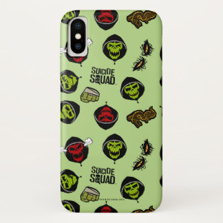 Suicide Squad   Killer Croc Emoji Pattern iPhone X Case