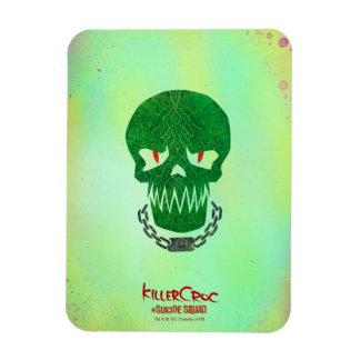 Suicide Squad   Killer Croc Head Icon Rectangular Photo Magnet