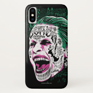 Suicide Squad   Laughing Joker Head Sketch iPhone X Case