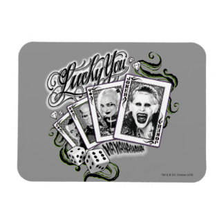 "Suicide Squad | ""Lucky You"" Playing Cards Rectangular Photo Magnet"