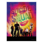 Suicide Squad | Orange Joker & Squad Movie Poster