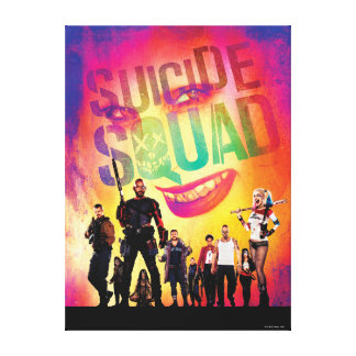 Suicide Squad | Orange Joker & Squad Movie Poster Canvas Print