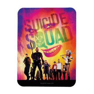 Suicide Squad   Orange Joker & Squad Movie Poster Rectangular Photo Magnet