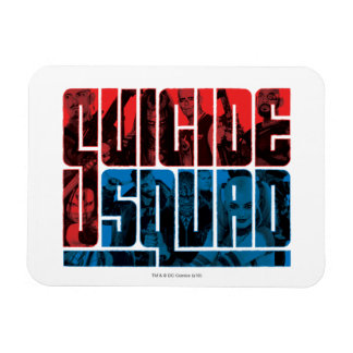 Suicide Squad | Red and Blue Logo Rectangular Photo Magnet