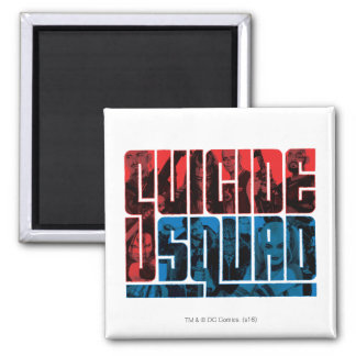 Suicide Squad | Red and Blue Logo Square Magnet