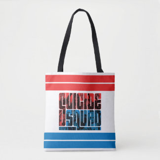 Suicide Squad | Red and Blue Logo Tote Bag