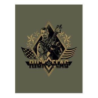 Suicide Squad   Rick Flag Badge Postcard