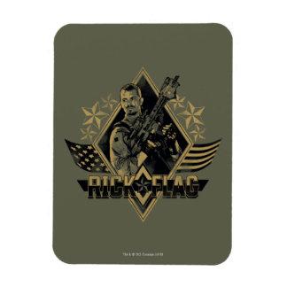 Suicide Squad   Rick Flag Badge Rectangular Photo Magnet