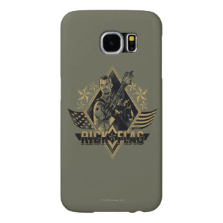 Suicide Squad   Rick Flag Badge Samsung Galaxy S6 Cases