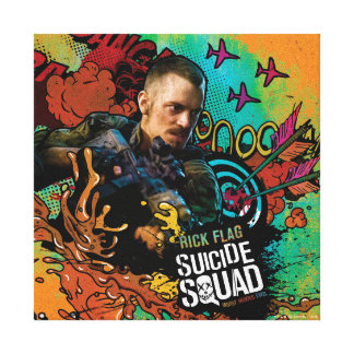 Suicide Squad | Rick Flag Character Graffiti Canvas Print