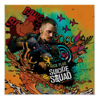 Suicide Squad | Rick Flag Character Graffiti Poster