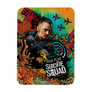 Suicide Squad | Rick Flag Character Graffiti Rectangular Photo Magnet