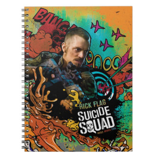 Suicide Squad   Rick Flag Character Graffiti Spiral Notebook