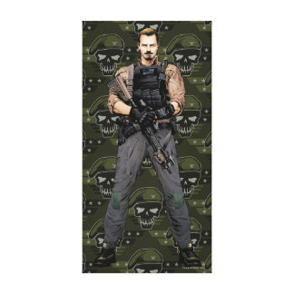 Suicide Squad | Rick Flag Comic Book Art Stretched Canvas Print