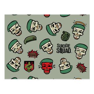 Suicide Squad   Rick Flag Emoji Pattern Postcard
