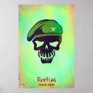 Suicide Squad | Rick Flag Head Icon Poster