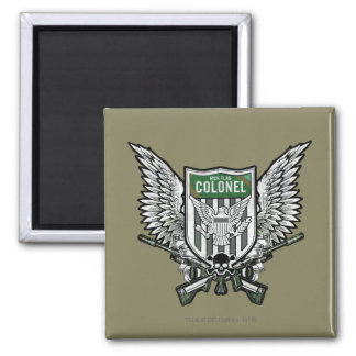 Suicide Squad | Rick Flag Winged Crest Tattoo Art Square Magnet