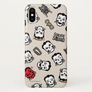 Suicide Squad   Slipknot Emoji Pattern iPhone X Case