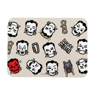 Suicide Squad   Slipknot Emoji Pattern Rectangular Photo Magnet