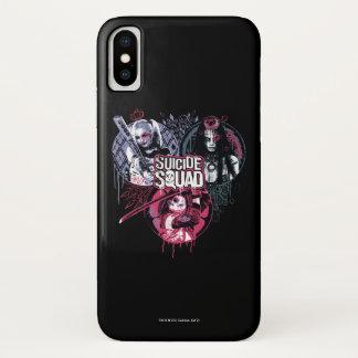 Suicide Squad   Squad Girls Graffiti Badges iPhone X Case