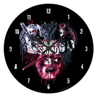 Suicide Squad | Squad Girls Graffiti Badges Large Clock