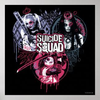Suicide Squad | Squad Girls Graffiti Badges Poster