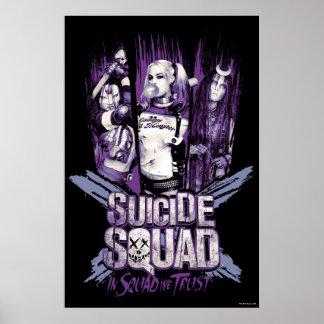 "Suicide Squad | Squad Girls ""In Squad We Trust"" Poster"