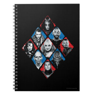 Suicide Squad | Task Force X Checkered Diamond Notebooks
