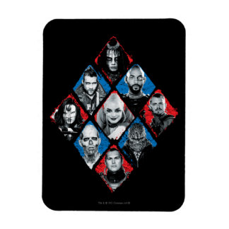 Suicide Squad | Task Force X Checkered Diamond Rectangular Photo Magnet
