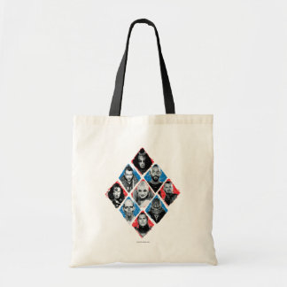 Suicide Squad | Task Force X Checkered Diamond Tote Bag