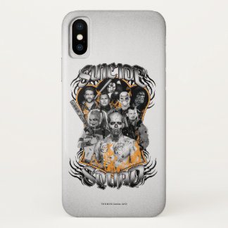 Suicide Squad   Task Force X Tribal Tattoo iPhone X Case