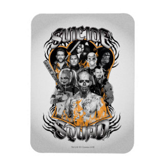 Suicide Squad   Task Force X Tribal Tattoo Rectangular Photo Magnet