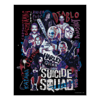 Suicide Squad | Task Force X Typography Photo Poster