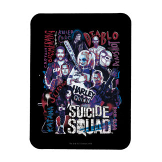 Suicide Squad | Task Force X Typography Photo Rectangular Photo Magnet