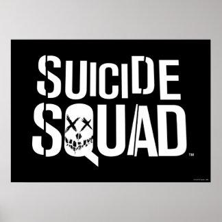 Suicide Squad | White Logo Poster